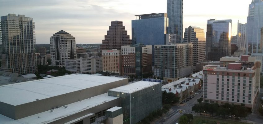 Austin Convention Center from the Hilton