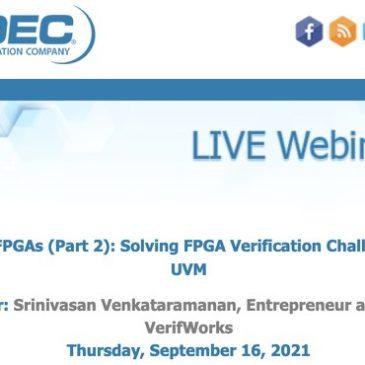 UVM for FPGAs (Part 2): Solving FPGA Verification Challenges with UVM