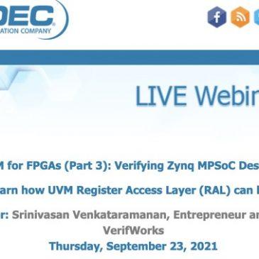 UVM for FPGAs (Part 3): Verifying Zynq MPSoC Designs?