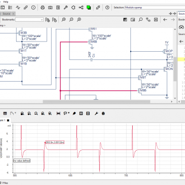 Analog Waveform Viewing with Schematic Cross-Probing